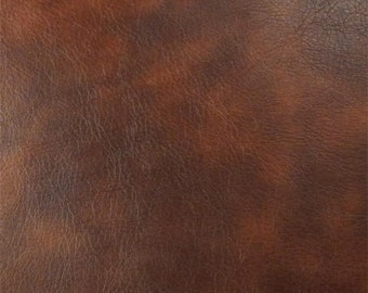 Mahogany Brown Faux Leather, Fabric By The Yard