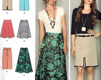 Simplicity 2257 Sewing Pattern Office Style Sizes 8-10-12-14-16 Easy to Sew Skirts