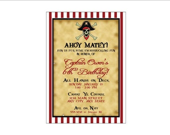 Pirate Birthday Party Invitation