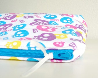 Fun Skull Make up bag, Makeup bag, Pencil case, Gifts for women, Gift for her, Bridesmaid gift, Gifts for mom, Cosmetic bag