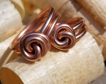 Love knot ring Knot ring wire ring twisted wire everyday ring