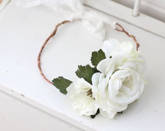 Flower Crown, Maternity Crown, Kids Flower Crown, Bridal Crown, White Flower Crown, Floral Wreath, Children Photo Prop, Boho Crown, Prop