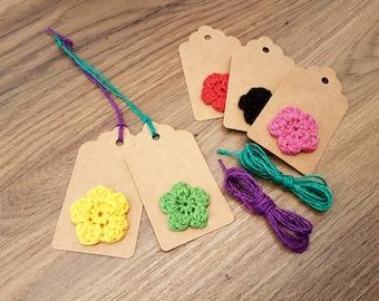 Handmade Crocheted Gift Tags