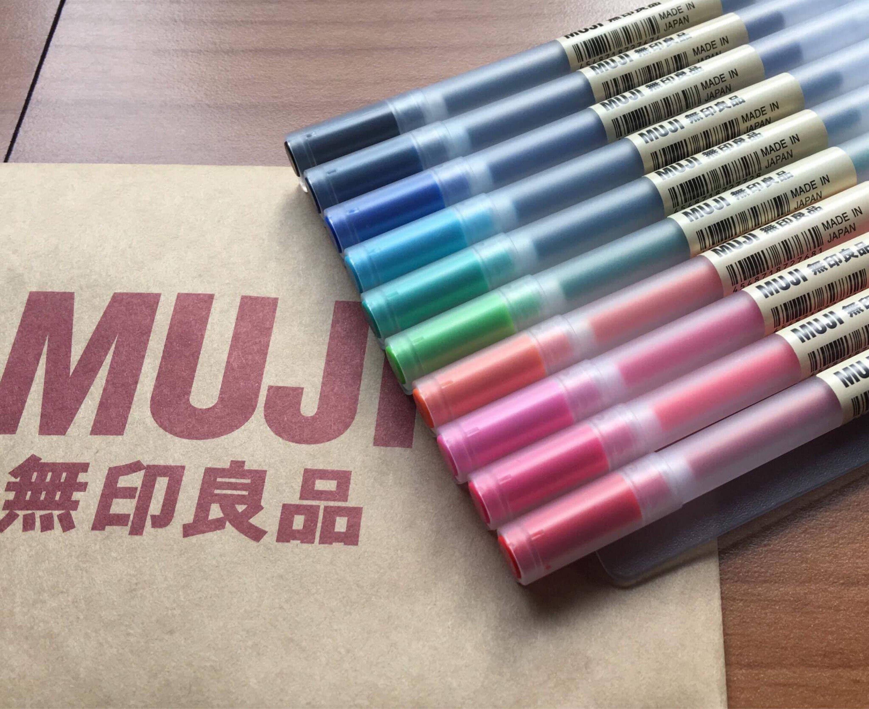 MUJI gel pens Muji Pens Muji pens refill 0.38/0.5mm Muji