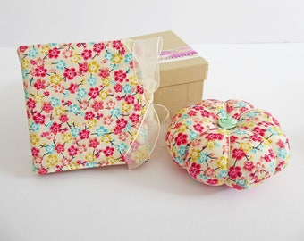 Needlecase & Pincushion, Sewing Set, Sewing Gift, Sewing Accessories, Needle Pin Holder, Crafter Gift, Quilter Gift, Needlecraft, UK Seller