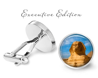 Sphinx Cufflinks - Egyptian Sphinx Cuff Links - Egypt Cufflink (Pair) Lifetime Guarantee (S0812)