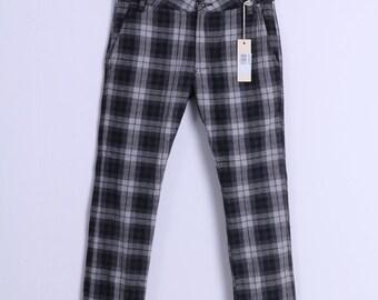Vintage 90s Unisex Check Pants Size W 29 GYlXCqbq
