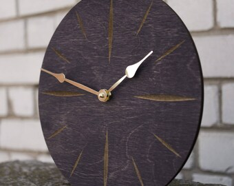 Modern Clock,  Large Clock, Large Wall Clock, Wooden Wall Clock, Kitchen Clock, Dining Room Clock