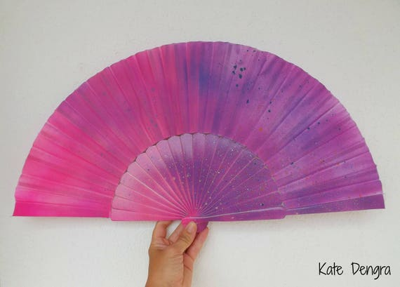 Disco Splash Hand Fan XL