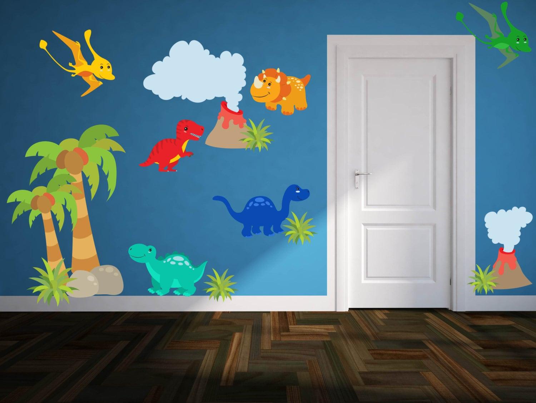 Dinosaur Wall Decals Boys Room