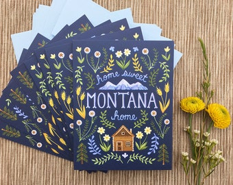 Home Sweet Home Montana Greeting Cards, Boxed Set of 8 Cards