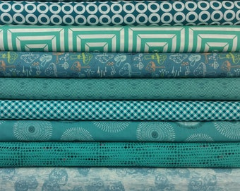The Teal Buck Forest Color Bundle (10 Fabrics)