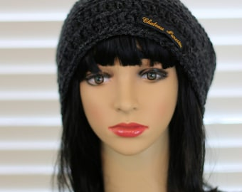 Gray Heather Slouch Hat