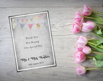 Personalised Wedding Thank You Cards with Matching Envelopes Pack Of 10 TY78
