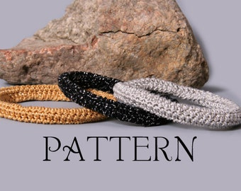 PDF PATTERN FILE - Super Easy Crochet Bangle Bracelet 2.0 Pattern