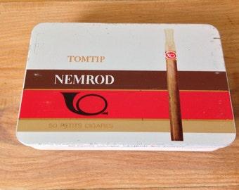Vintage cigar box (empty) / NIMROD / TOMTIP / French tobacco Board