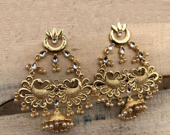 multi by moda indian earrings gold in kirat large young operandi loading ruby