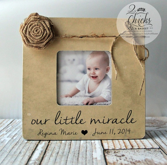 Our Little Miracle Picture Frame, Nursery Frame, Baby Shower Gift ...