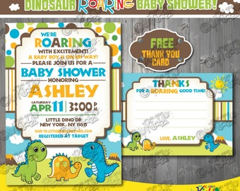 Printable Dinosaur Baby shower invitation-Dinosaur Baby shower Invite-Dino Baby shower invitation-printable Dino Baby shower Invite
