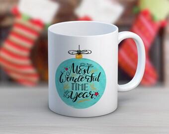 Wonderful Time Ornament // 11 oz or 15 oz Coffee Mug