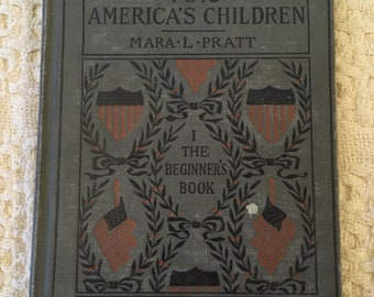 Old School Book, Vintage School Books, Vintage Hardcover Books, American History for Kids, Old Elementary School Textbooks