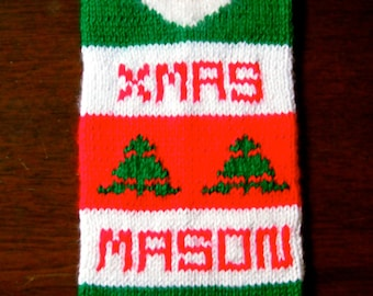 Personalized Knitted Christmas Stocking