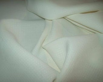 fabric, quilted rayon, a little creamy white