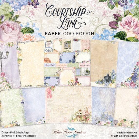 Blue Fern New Release Courtship Lane Collection 12 X 12 Scrapbook