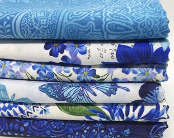Fat Quarter Bundle - Butterfly Grotto Fabric Collectionfrom Timeless Treasures Fabrics - 6 Fat Quarters