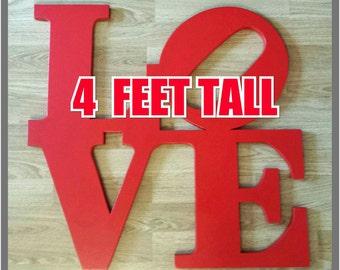 "Philadelphia LOVE Park.....""MEGA""  4 FOOTER"