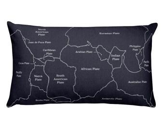 Tectonic Plates - Geology Throw Pillow