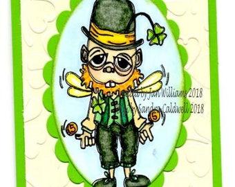 2067 Leprechaun Fairy Digi Stamp