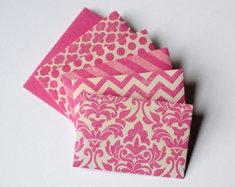 Pink Gift Card Envelopes - Distressed Pink Envelopes - Pink Envelopes - Gift Card Envelopes