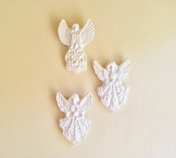 Angel wall sculptures angel wall decor Victorian inspired