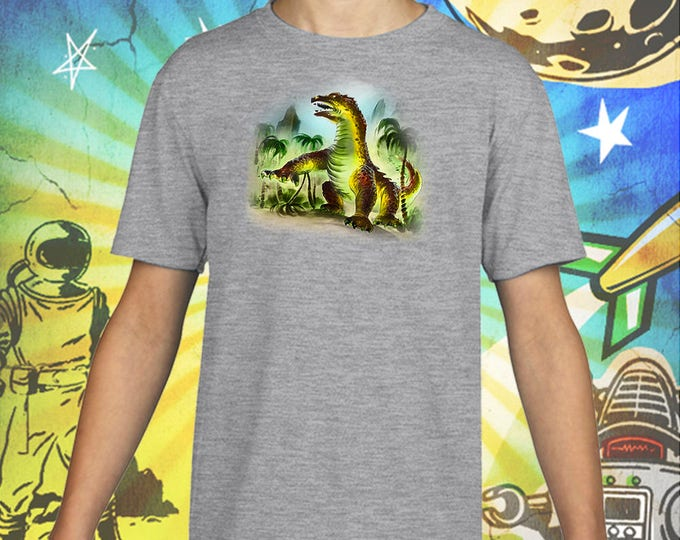 Classic Monsters / Beast From 20000 Fathoms / Ray Harryhausen / Gray Child Size Performance T-Shirt