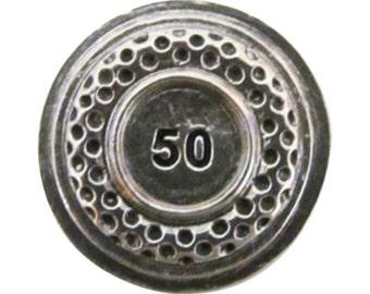 Clay Target 1 25 50  ~ Lapel Pin/Brooch ~ A098B,AC098B