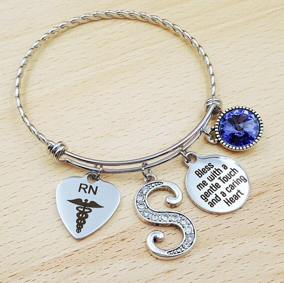 Nurse Graduation Gift Nurse Graduation Bracelet RN Graduation Gift RN Graduation Bracelet BSN Gift for Nurse rn Gifts rn Bracelet