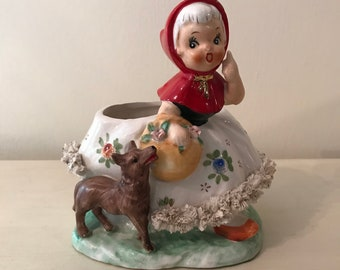 Little Red Riding Hood Lace Skirt Planter