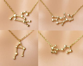 High quality Zodiac necklace,Constellation Necklace,Constellation Jewelry,Gift idea,zodiac celestial jewelry,zodiac gifts,astrology necklace