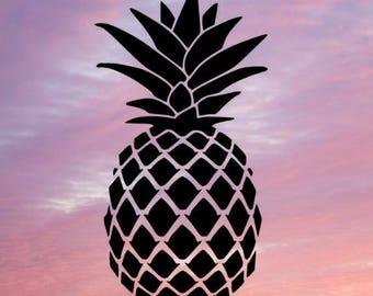 Sale! Pineapple SVG, Pineapple Monogram SVG, SVG Files, Cricut Cut Files, Silhouette Cut Files