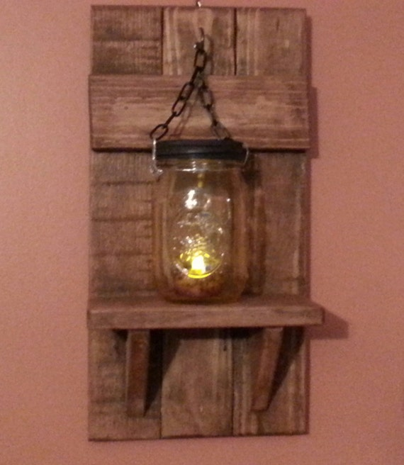 candle holder mason jar wall candle holders country decor. Black Bedroom Furniture Sets. Home Design Ideas
