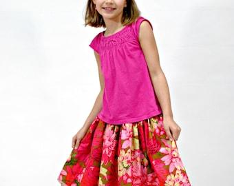 Pink Petticoat Skirt, Girls Skirts, Toddler Skirts, Twirly skirt, Pink Skirt, Boutique clothing, girls spring skirts, Size 2 - 8