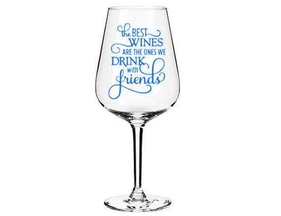 items similar to wine glass sticker vinyl decal for glass vinyl