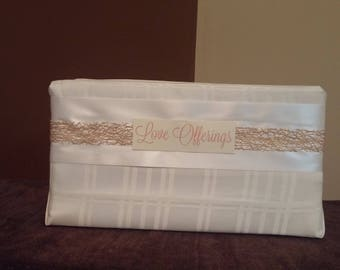 Ivory, Gold and White Wedding Gift Card/Cash Box