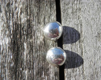 Nails, chips of timeless Earrings 8mm silver balls, silver balls, minimalist Earrings, hand made