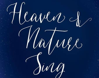 Heaven & nature sing, softest paper ever!