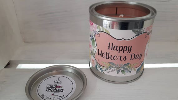 Mothers Day candle. Bergamot, rose and lily of the valley Vegan candle. Welsh candle.  Soy wax candle.  Mothers Day.  Handmade in Wales, UK