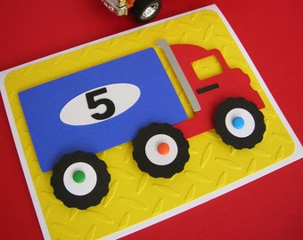 Semi Truck Big Rig Birthday Invitation