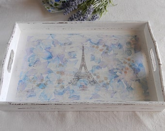Decorative Tray*Eiffel Tower Tray*Dining Tray*Gift For Mom*Handmade Gift
