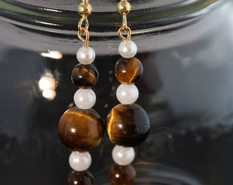 Tiger Eye Earrings - Item 1040